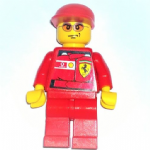 Lego Ferrari F1 Engineer 3 vodaphone shell Minifigure 2006